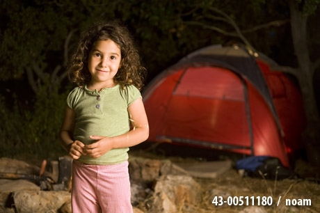 Little girl at a camp - noam