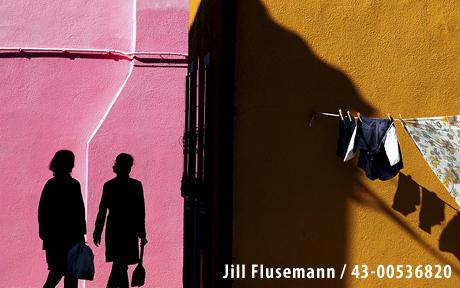 Two women in silhouette - Jill Flusemann